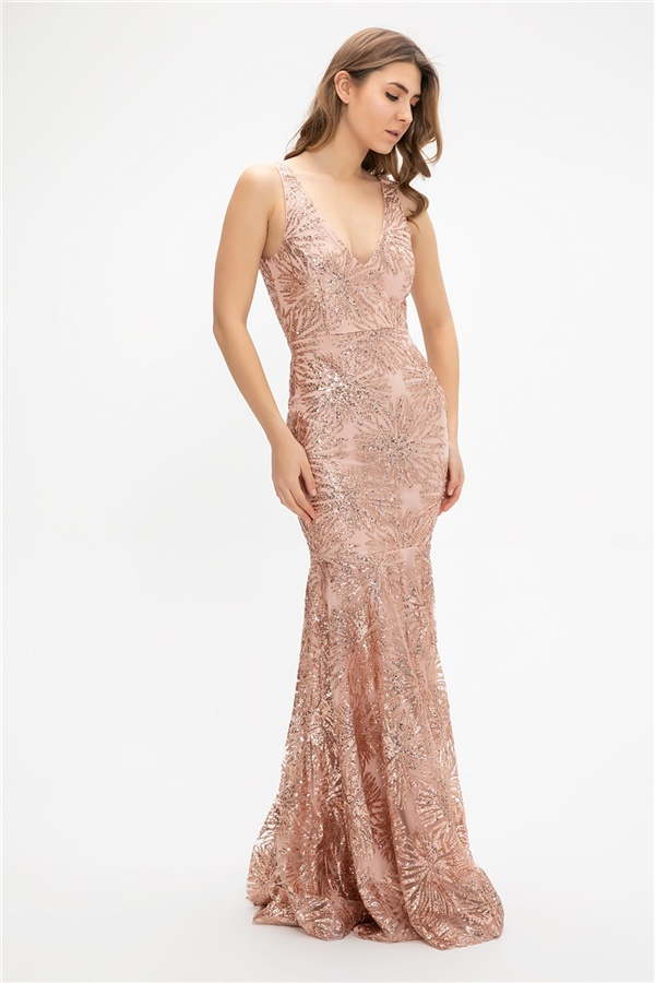 Powder color Evening Dress