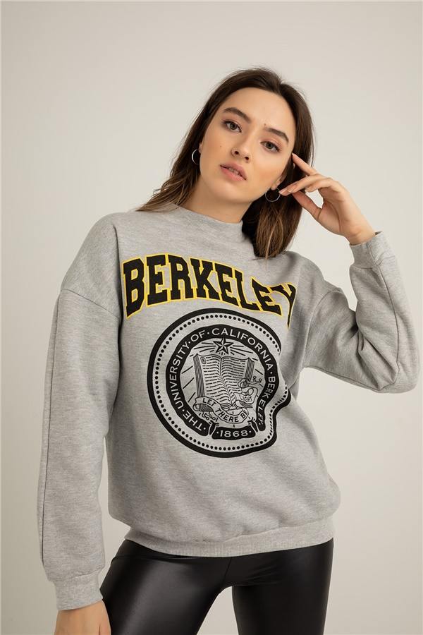Berkeley Baskılı Sweat - GRİ