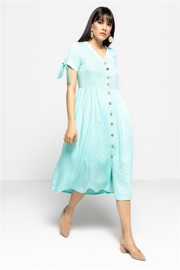 Sea green Dress